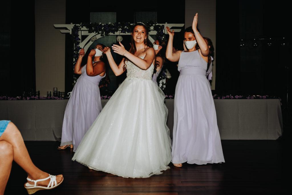 Bride and bridesmaids making memories