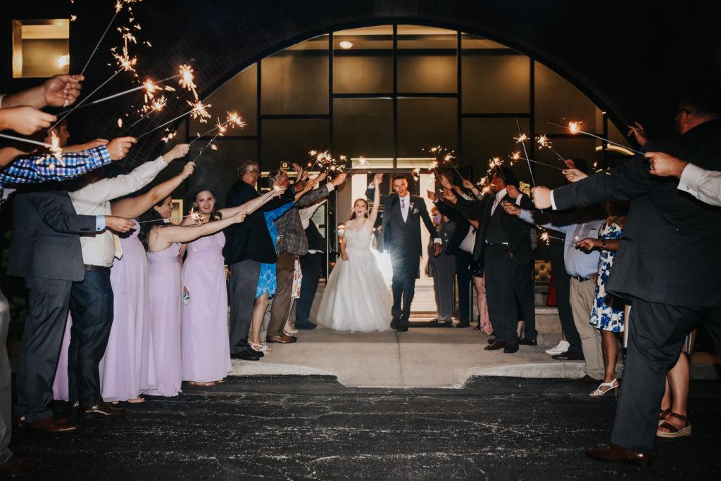 Wedding Day Sparkler Exit