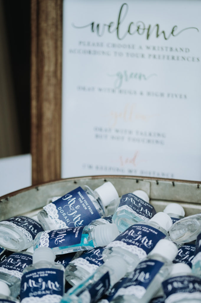 Photo of COVID wedding day details