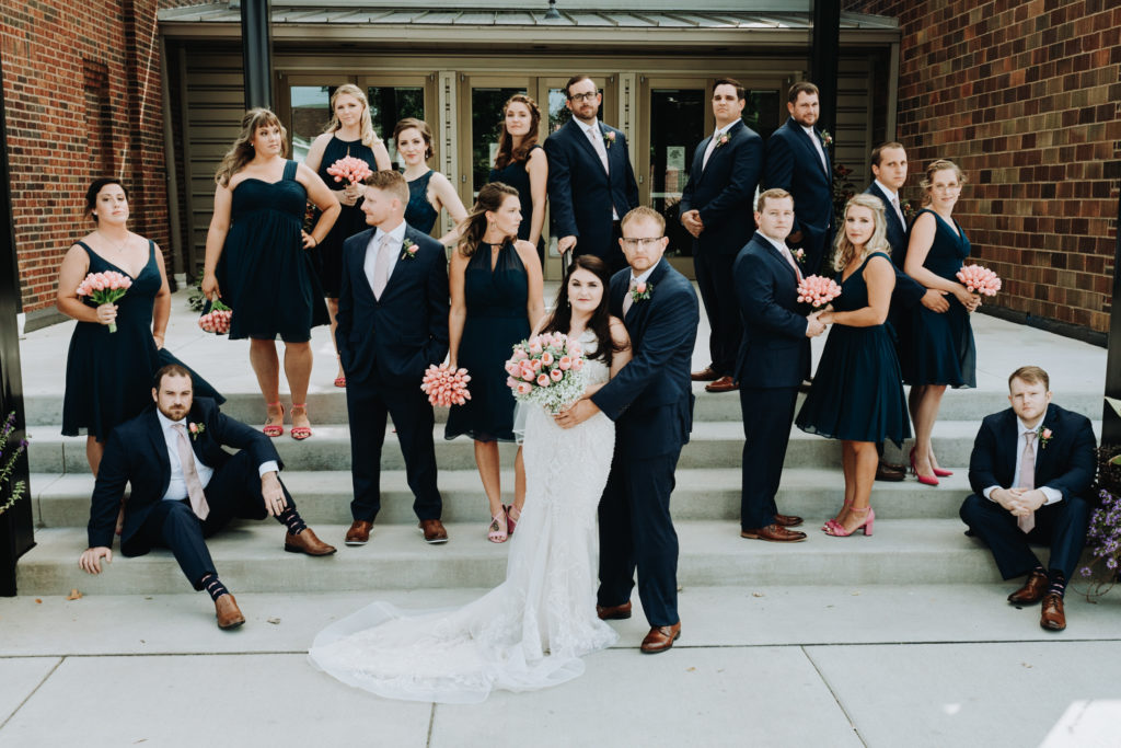 Bridal Party Photo Garment Factory Wedding Day Franklin, IN
